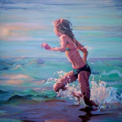 Run to the sun-21st Century Contemporary Figure Painting by Mitzy Renooy