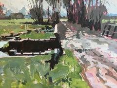 Dutch Lock- 21st Century Contemporary Landscape Painting by Eric Schutte