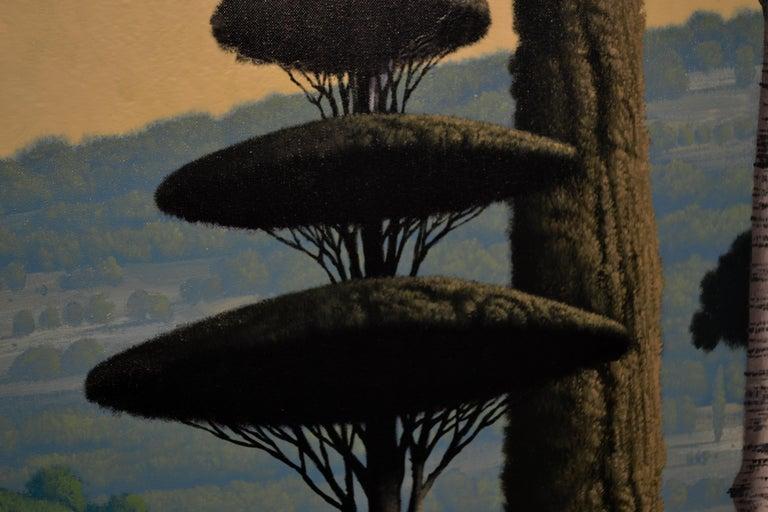 Congregatio Silentii VII- 21st Century Contemporary Italian Landscape Painting For Sale 1