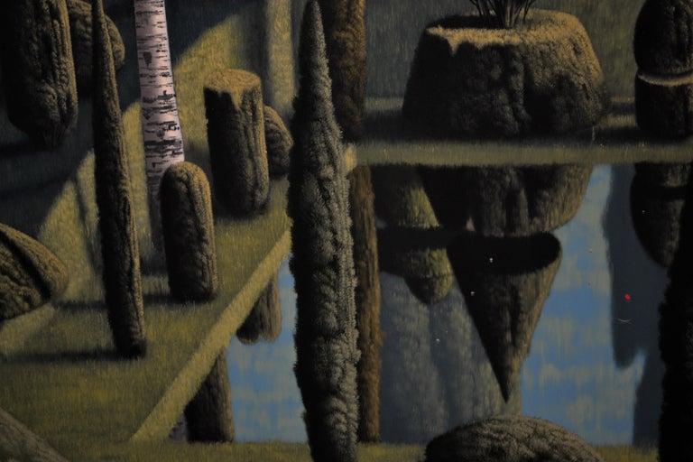 Congregatio Silentii VII- 21st Century Contemporary Italian Landscape Painting For Sale 2