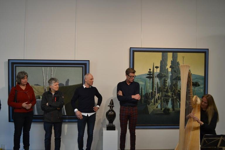 Congregatio Silentii VII- 21st Century Contemporary Italian Landscape Painting For Sale 3