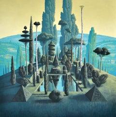 Congregatio Silentii VII- 21st Century Contemporary Italian Landscape Painting