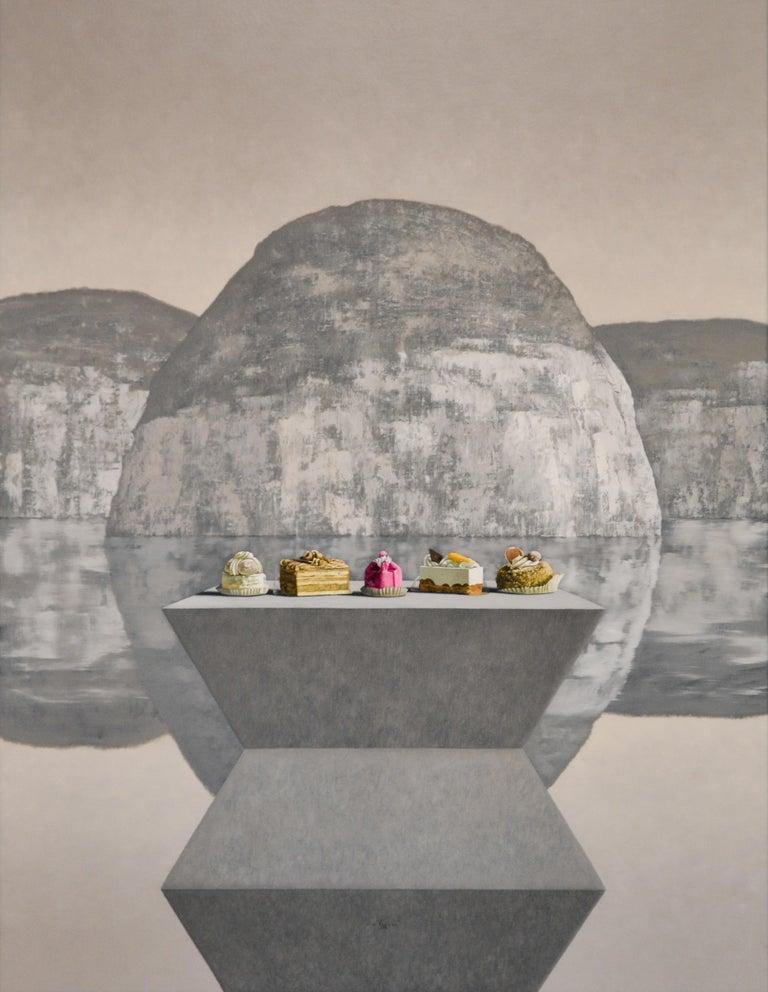 Victor Muller Still-Life Painting - Brancusi meets Thiebaud- 21st Century Contemporary Still-life Landscape Painting