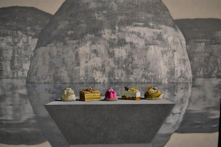 Brancusi meets Thiebaud- 21st Century Contemporary Still-life Landscape Painting For Sale 1