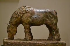 Belgian Horse- 21st Century Contemporary Bronze Animal Sculpture, Mieke Heitling
