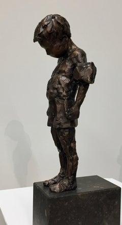 Little Boy - 21st Century Contemporary Bronze Sculpture by Dutch Mieke Heitling