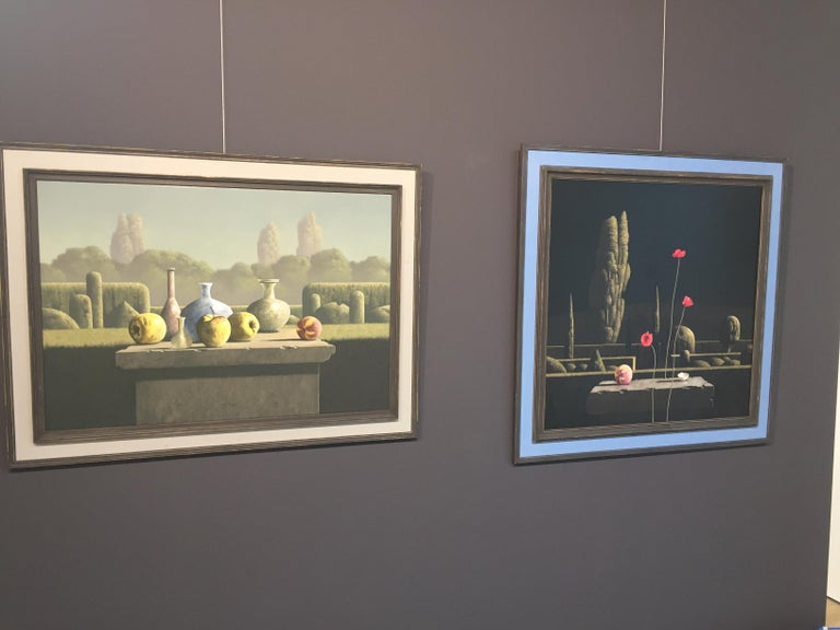 Nocturne- 21st Century Contemporary Still-life in a  Landscape painting - Painting by Victor Muller
