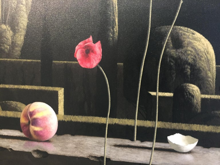 The unique paintings of Dutch Painter Victor Muller are  modern and classic at the same time.     Victor Muller gets his inspiration from the old masters but is not afraid to do different things with his subjects. Still lifes, hidden gardens, quiet