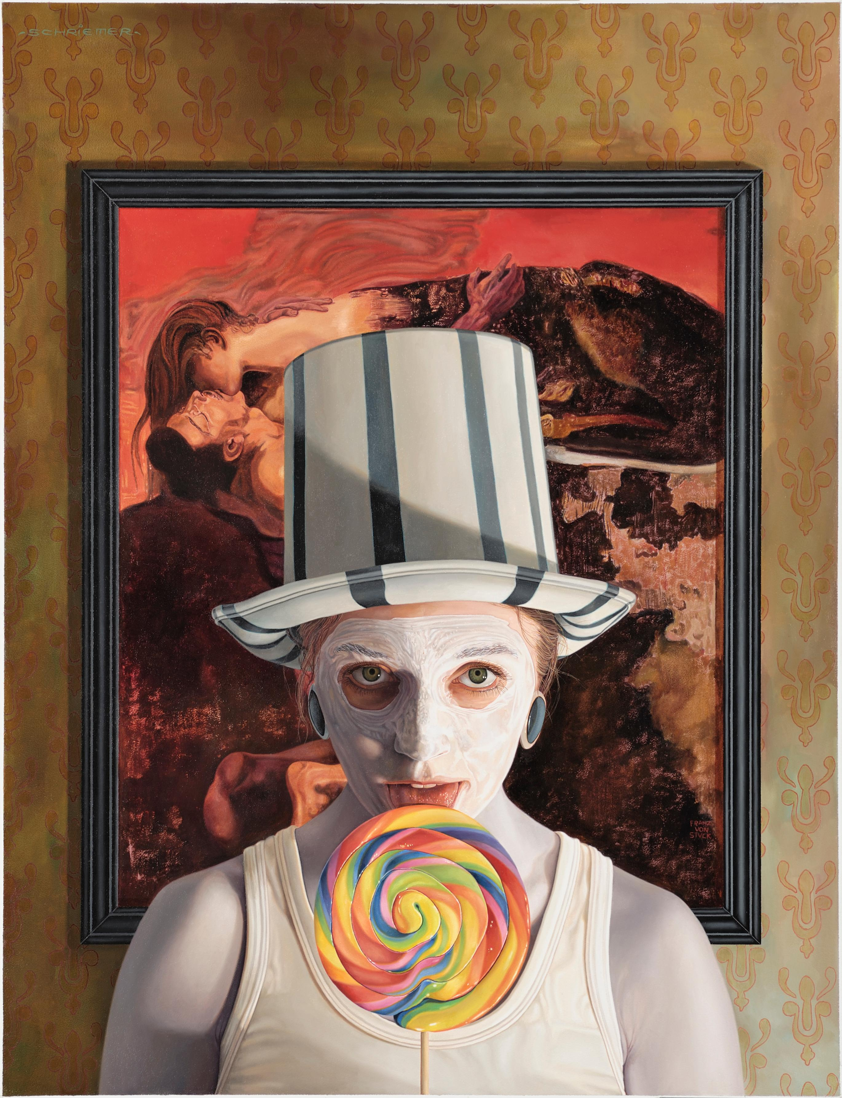 Stuck -  21st Century contemporary narrative portrait painting