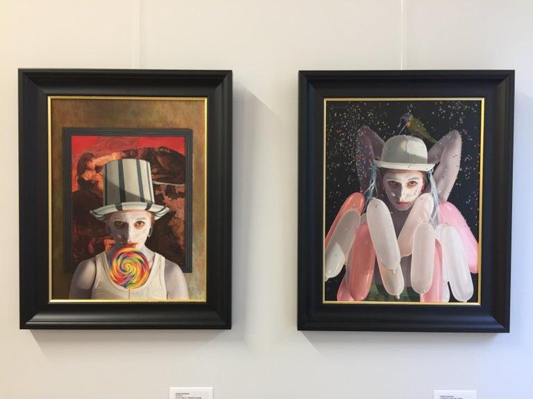 Stuck -  21st Century contemporary narrative portrait painting For Sale 1