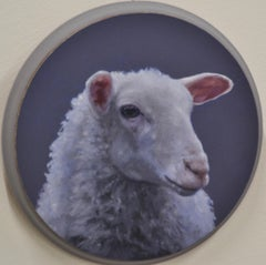 Sheep's Head Circular - Hinke Posthuma 21st Century Contemporary Oil Painting