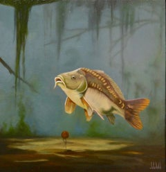 Cypri C1- 21st Century Contemporary Realistic Painting of a Fish