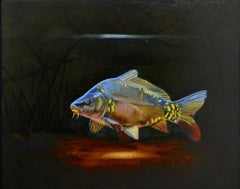 Cypri C4- 21st Century Contemporary Realistic Painting of a Fish