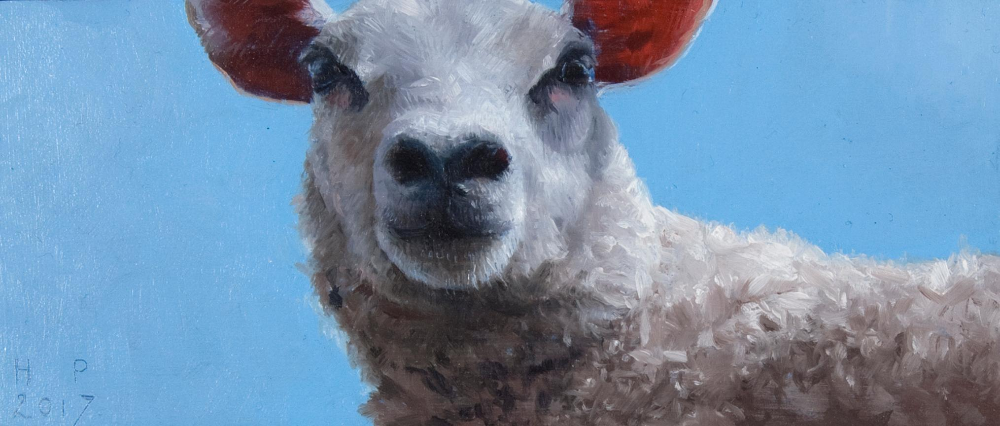 Sheep- 21st Century Contemporary Animal Painting of a Dutch Sheep