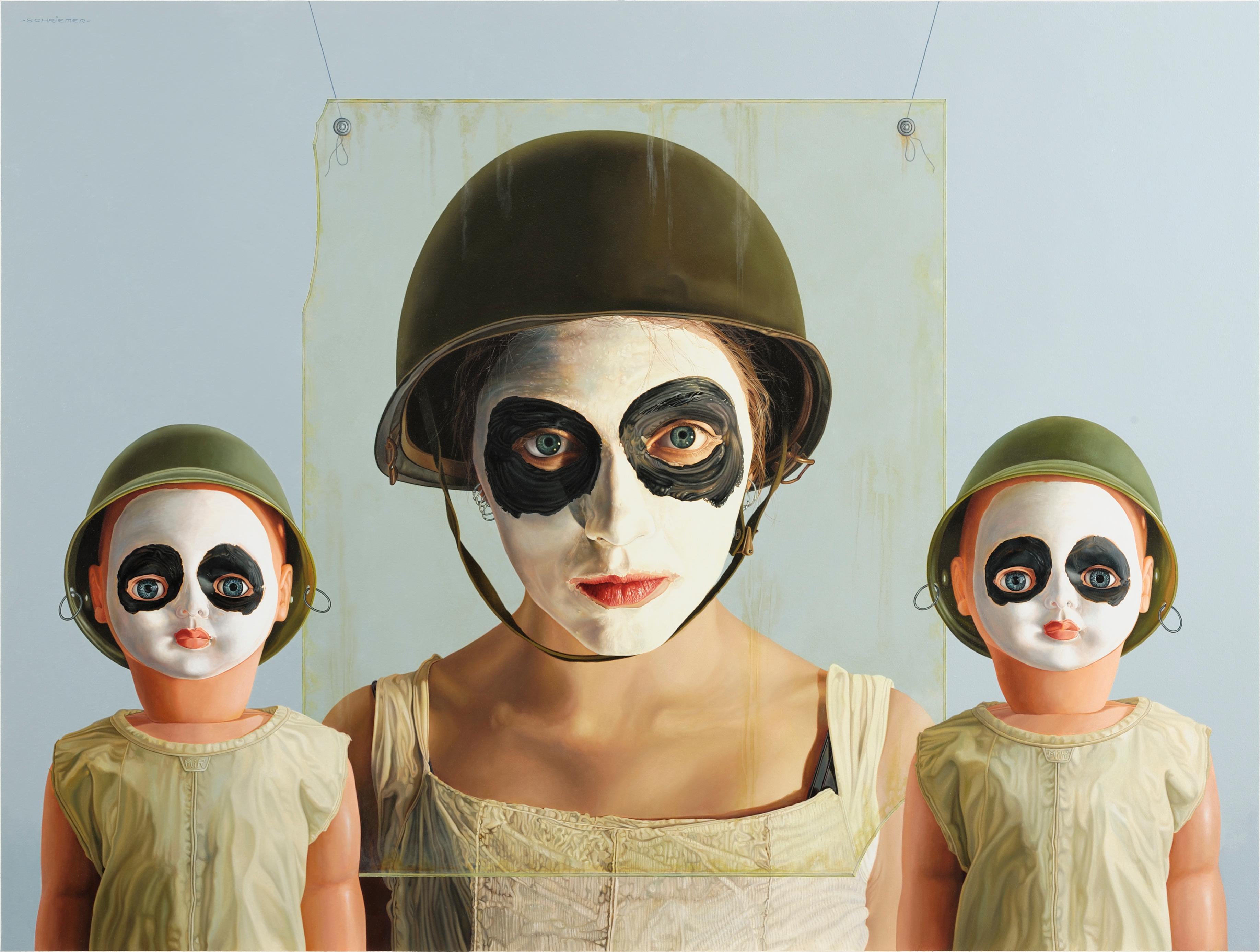 Panda Souls -  21st Century contemporary narrative oil painting