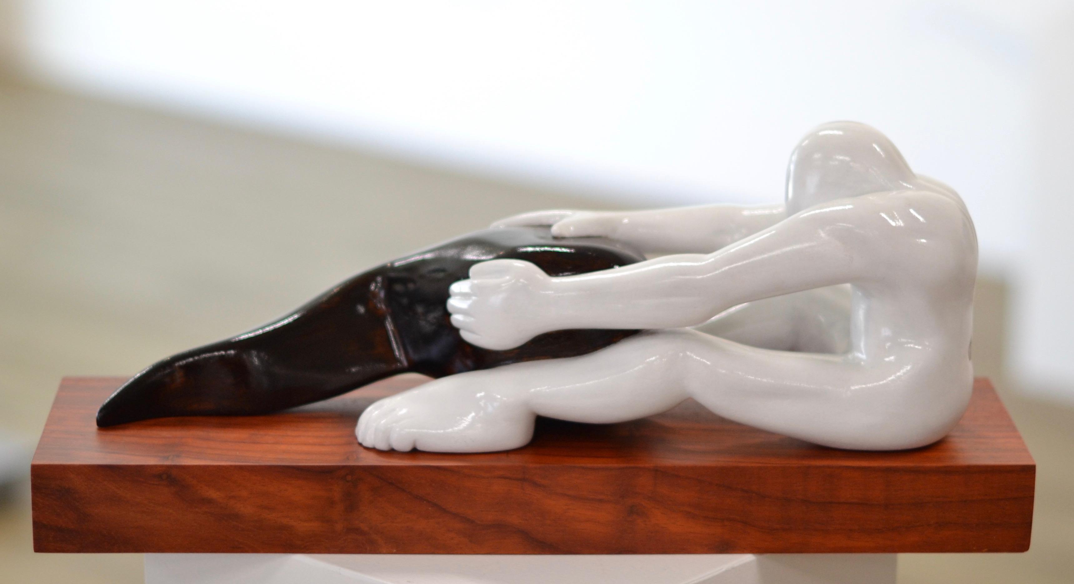 Troubled Identity - Jos de Wit, 21st Century Contemporary Sculpture Nyatoh Wood