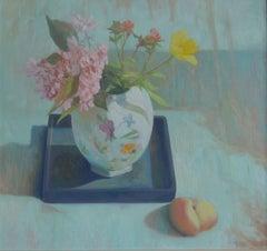 Still-life, Green -  21st Century Dutch Contemporary Oil Painting