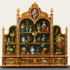 """""""Collection of Curiosities"""" - Cornelis Le Mair, Classic Style Oil Painting"""