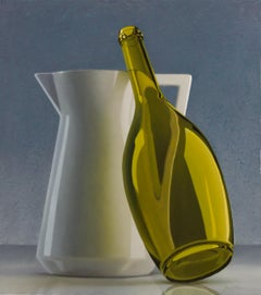 Compostion With Jug And Wine Bottle - Henk Boon, 21st Century Contemporary