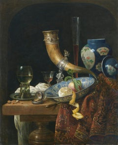 Still-Life with Ornamental Horn, Blue-White Chinese Vase and Rummer - Le Mair