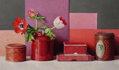 Still-Life in Red - 21st Century Contemporary Oil Still-Life by Ingrid Smuling