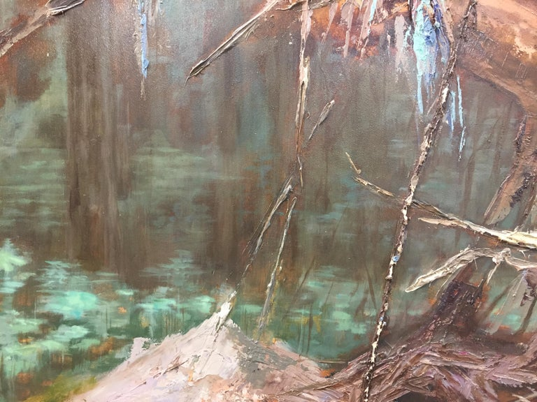 Treeroots-21st Century Landscape Oil Painting by Dutch painter Esther Schlebos For Sale 2