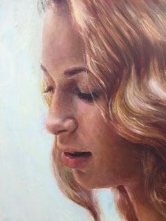 Lorelei - 21st Century Contemporary Oil Paint Portrait by Dutch Yvonne Heemskerk