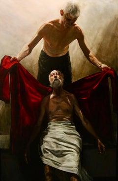 St. Martin - 21st Century Contemporary Oil Painting by Dutch Egbert Modderman