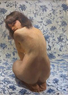 Birichina, 21st Century Contemporary Painting by Italian Artist Daniela Astone