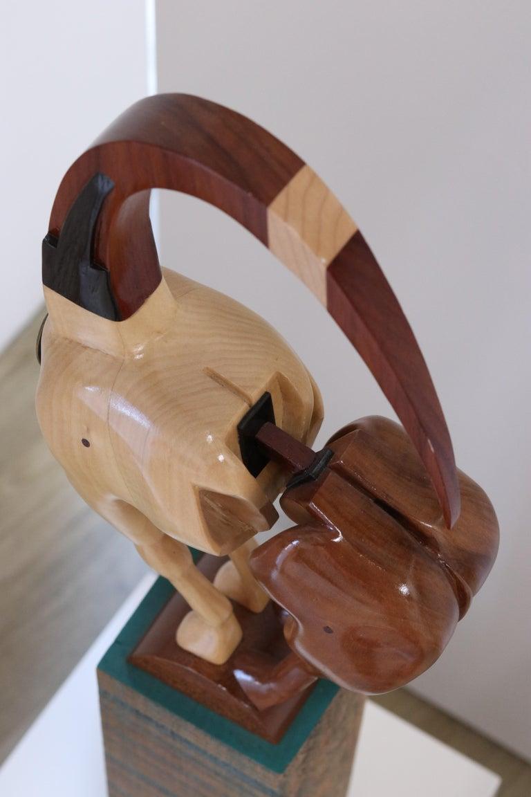 Equus Capricornus - 21st Century Contemporary Wooden Sculpture by Jos de Wit For Sale 3