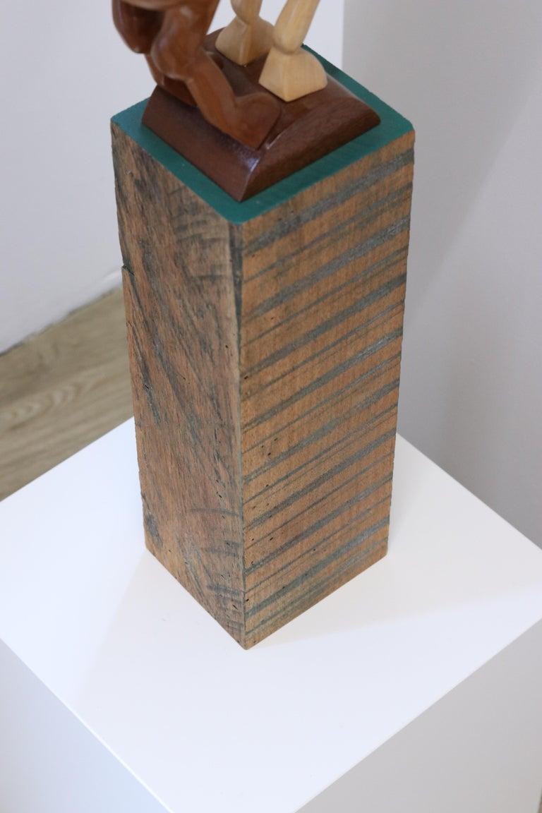 Equus Capricornus - 21st Century Contemporary Wooden Sculpture by Jos de Wit For Sale 9