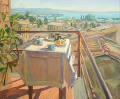 Summer Table Italy III - 21st Century Contemporary Oil Painting by Joost Doornik