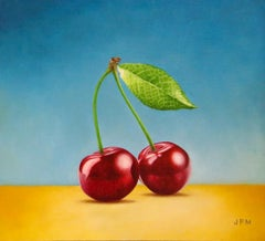 Cherry (II) - 21st Century Contemporary Oil Painting Still-Life by JP Marsman