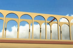 The Bridge - 21st Century Contemporary Oil Painted Landscape