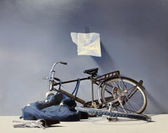 Saturday I Met My Girl - 21st Century Contemporary Still-Life of a Dutch Bicycle