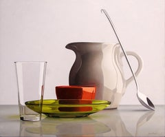 Composition with Green Bowl - 21st Century Contemporary Colorful Still-Life