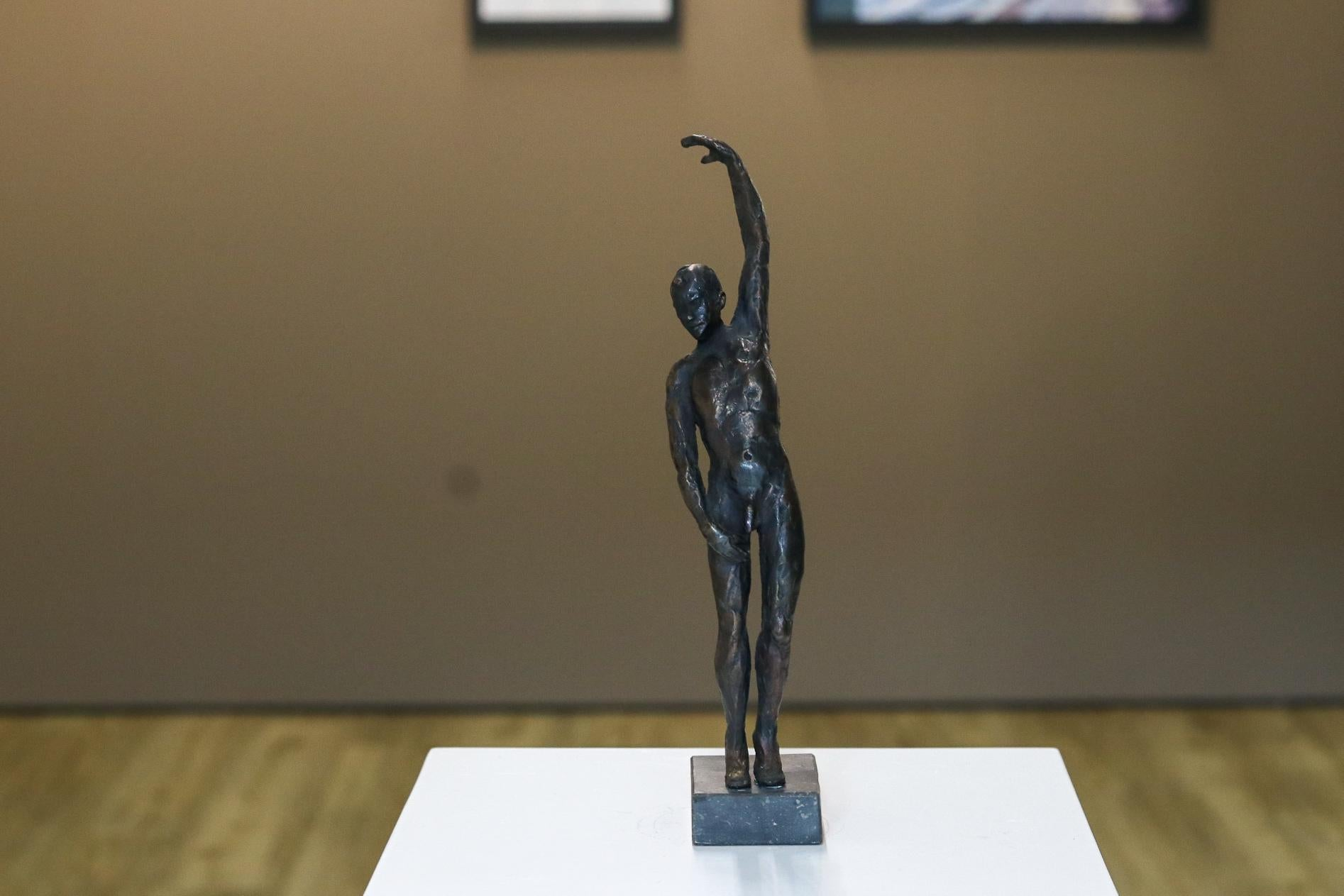 Male Nudity - 21st Century Contemporary Bronze Sculpture of a Nude Man Standing