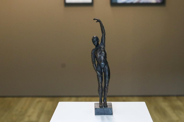 Romee Kanis Figurative Sculpture - Male Nudity - 21st Century Contemporary Bronze Sculpture of a Nude Man Standing