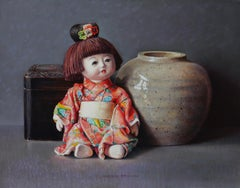 Chinese Doll and Old Ginger Jar - 21st Century Contemporary Oil Still-Life