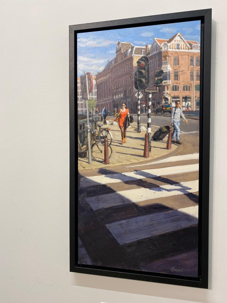 Red Dress- 21st Century Contemporary Cityscape ( Amsterdam) For Sale 1