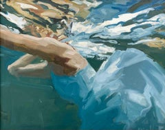 Flow - 21st Century Contemporary Oil Painting of a Woman in Water