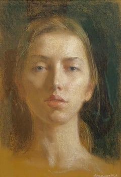 Self-Portrait In Pastels - 21st Century Russian Contemporary Drawing
