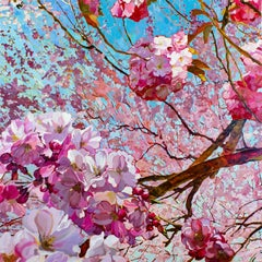 Eternal Spring - 21st Century Contemporary Oilpainting of Pink Blossom