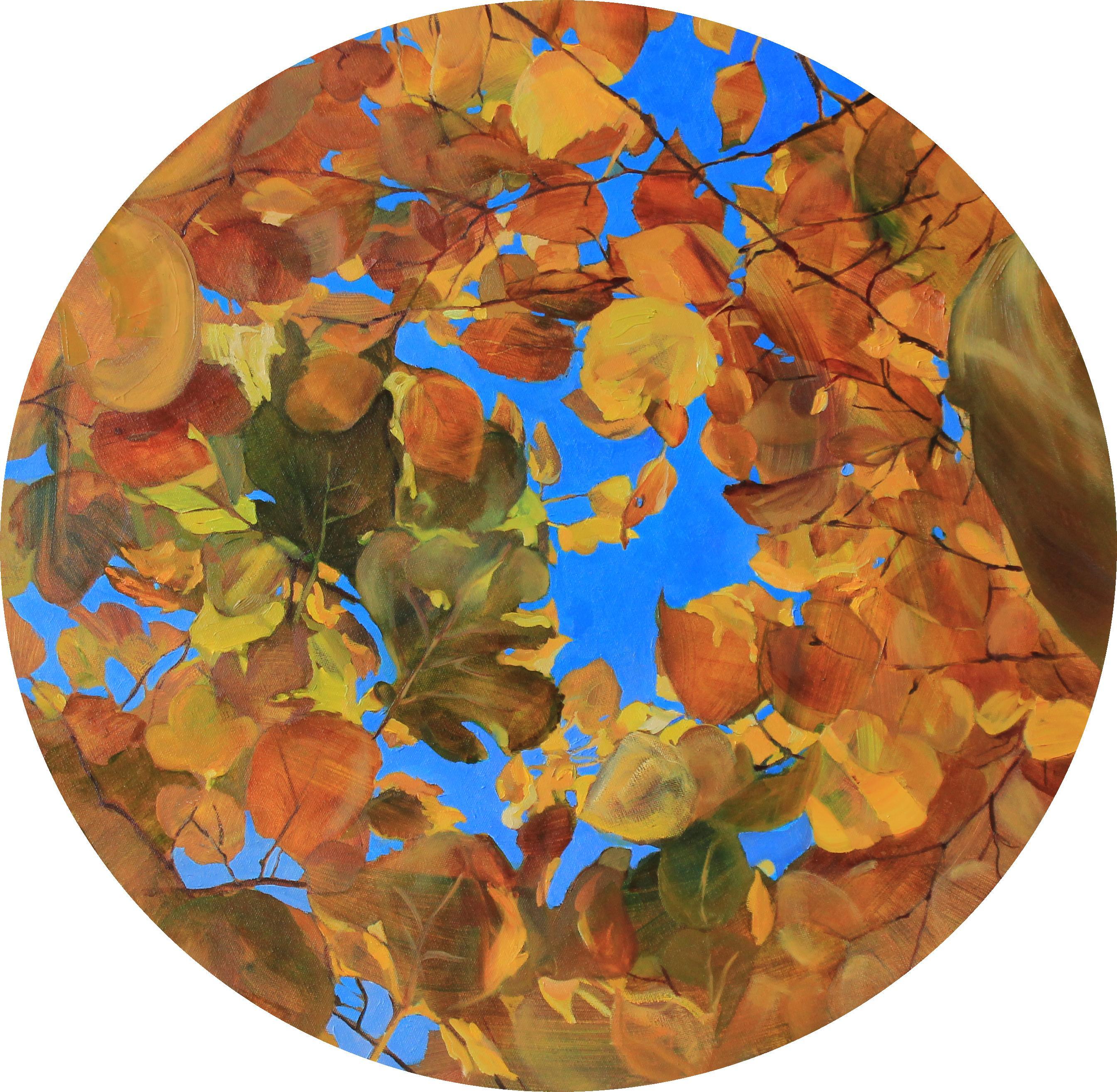 Autumn Brocade- 21st Century Contemporary Oilpainting of Autumn Trees