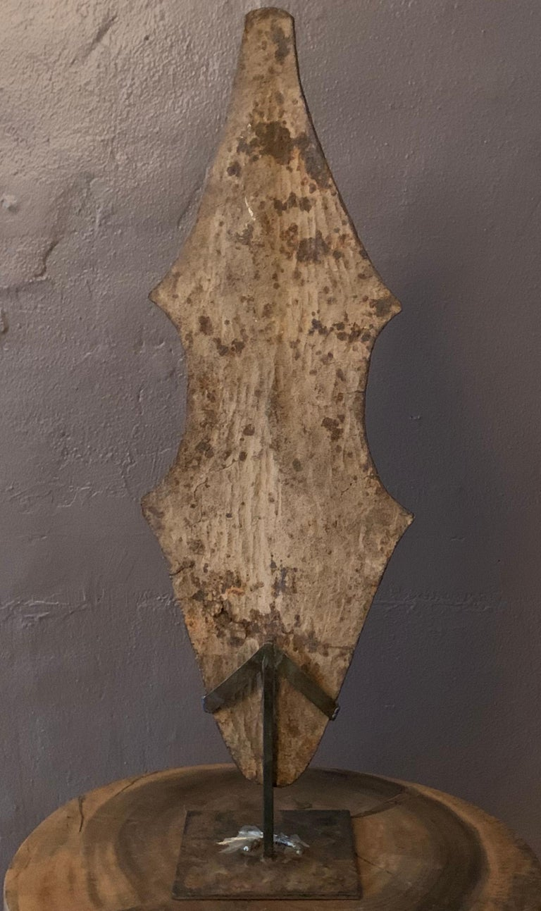 """""""Currency"""" Iron 100 years old, Mounted on steel stand - Art by Tucker Robbins"""