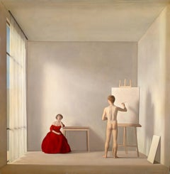 The painter and the model (1952) - Antonio Bueno - fin art print reproduction