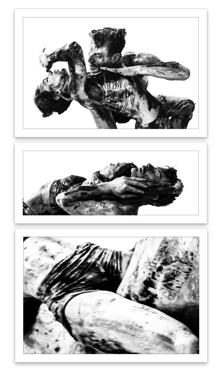 The Crowd #01 triptych - Luca Di Bartolo - Black & White Photos 1