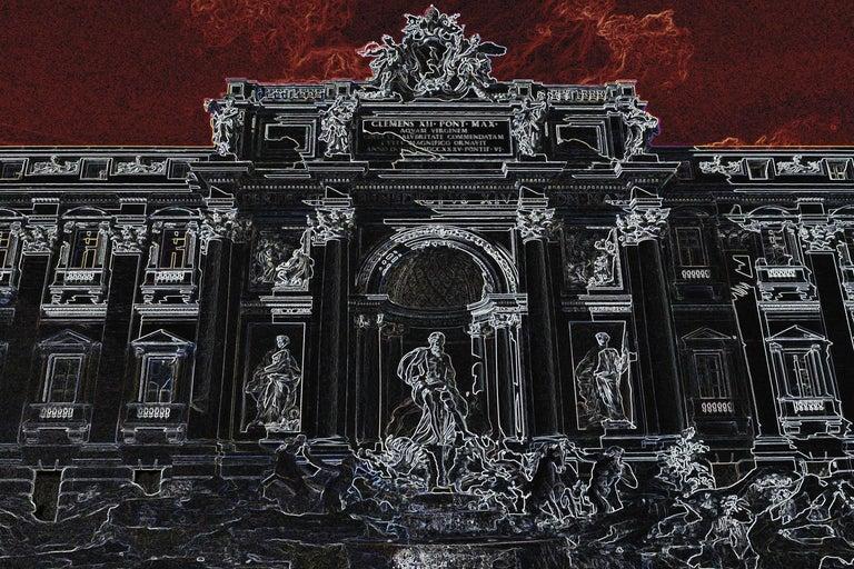 Fontana di Trevi - Roma - Graziano Villa - Fine Art Color Print Architecture - Constructivist Photograph by Graziano Villa