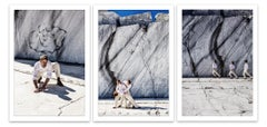 The Crowd / Cave #07  triptych - Alberto Desirò - Color Figurative Photography