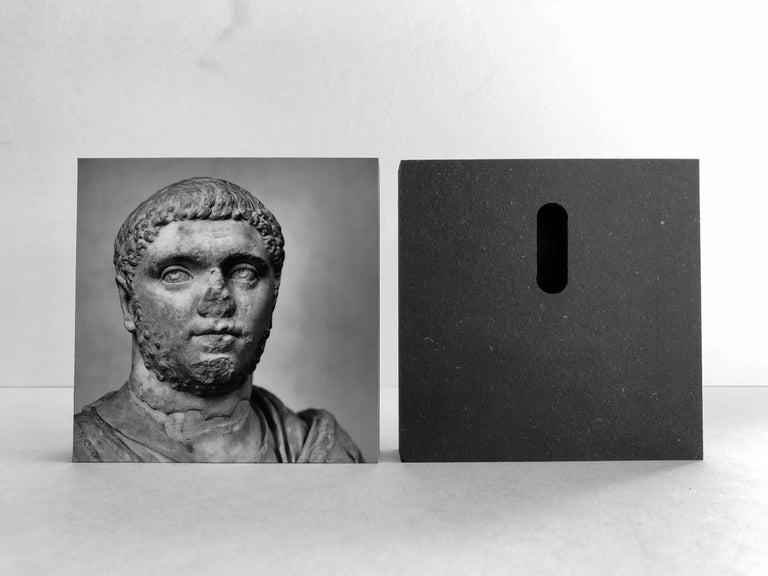 IMPERATORUM - Geta & Caracalla - Romae - Alberto Desirò - Black & White photos - Gray Portrait Print by Alberto Desirò